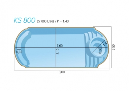 piscina Medit Spa 800